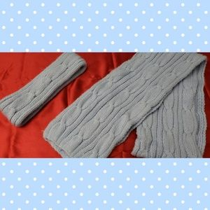 Knitted set of headband(ear warmer) and scarf